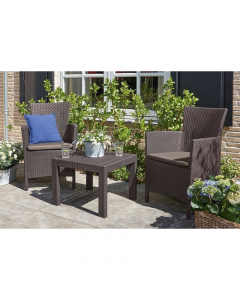 KETER balkonski set Rosario sto i dvije stolice smeđi