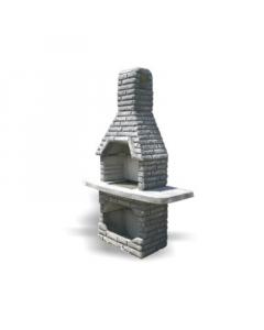 ROŠTILJ R1 boja betona 155x52x225cm