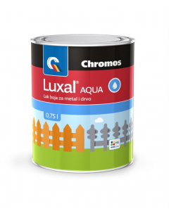 CHROMOS lak vodeni bijeli saten Luxal 0.65l