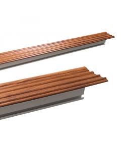 KARNIŠA plafonska PVC hrast/orah 2,5m