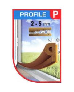 GUMA za prozor i vrata 6m smeđa