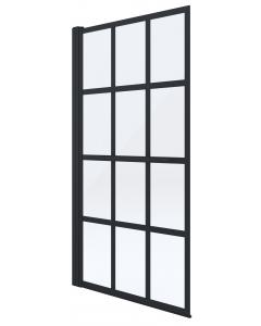 DEANTE paravan za kadu Levita 75x145cm crni