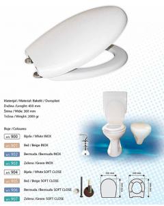 BRTVA PLAST wc daska Prestige bijela softclose