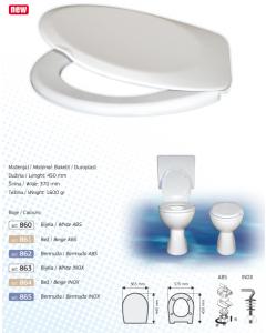 BRTVA PLAST wc daska Perla Softclose ABS