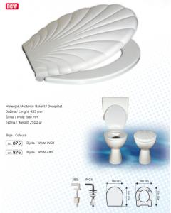 BRTVA PLAST wc daska Lido bijela 2500gr inox vijak