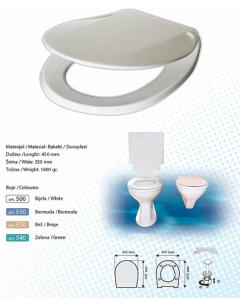 BRTVA PLAST wc daska Fontana 1600gr bijela