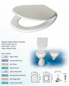 BRTVA PLAST wc daska Laguna 2500gr bijela