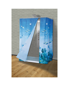 SANIPLAST zavjesa kupatilska 180x200cm Reef