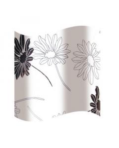 AWD zavjesa za kadu Peva 180x180cm crni cjetovi